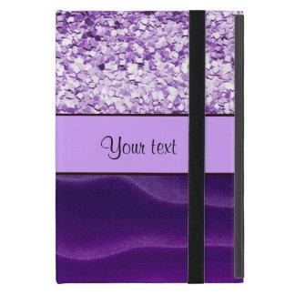 Purple Glitter & Wavy Sands iPad Mini Cover