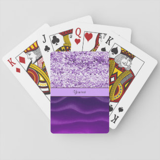 Purple Glitter & Wavy Sands Playing Cards