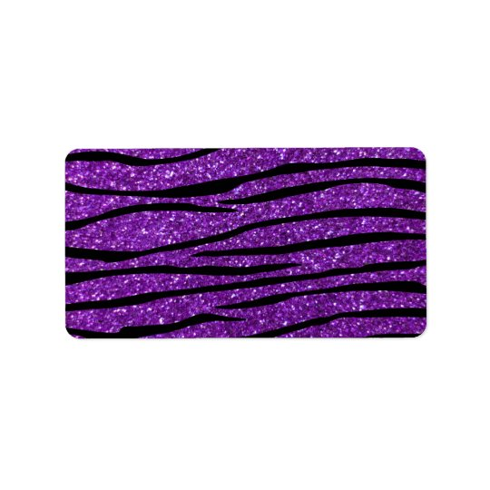 Purple glitter zebra stripes