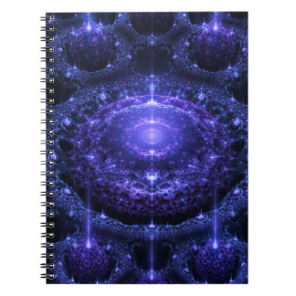 Purple Glitzy Spheres Notebook