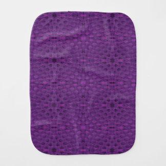 Purple Glory Snakeskin Inspired Pattern Baby Burp Cloths