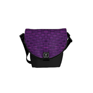 Purple Glory Snakeskin Inspired Pattern Courier Bags