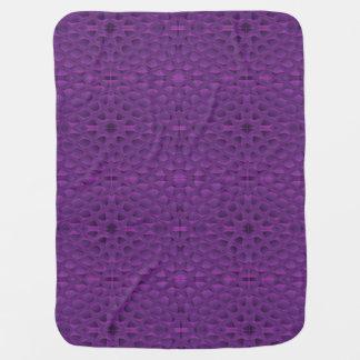Purple Glory Snakeskin Inspired Pattern Receiving Blankets