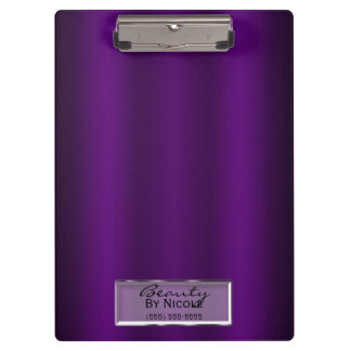 Purple Gloss Shine Elegant Chic Glam Personalized Clipboard