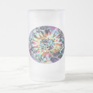 Purple Glow Frosted Glass Beer Mug