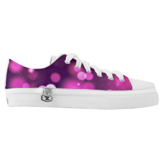 Purple Glowing Lights & Sparkles Low-Top Sneakers
