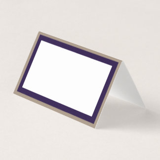 Purple Gold abstract custom Wedding place cards