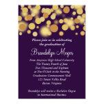 "Purple Gold Celebration Graduation Announcement 5"" X 7"" Invitation Card"