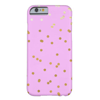 Purple & Gold Confetti Dots Modern Glamour Glam Barely There iPhone 6 Case