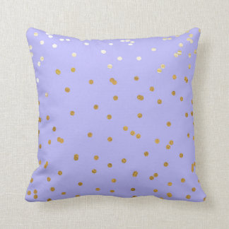 Purple & Gold Confetti Dots Modern Glamour Glam Throw Pillow