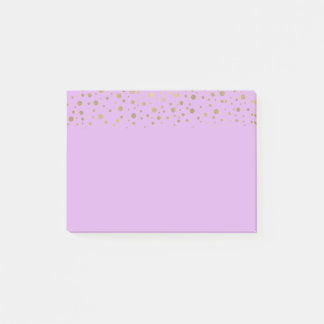 Purple Gold Confetti Post-it Notes
