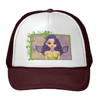 Purple & Gold Faery Pixel Art Trucker Hat