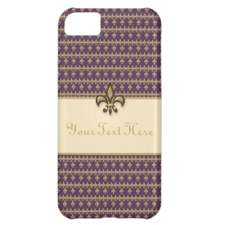 Purple Gold Fleur de Lis Case-Mate iPhone Case