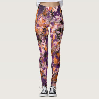 Purple & Gold Galaxy Leggings