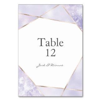 Purple & Gold Geometric Wedding Table Numbers