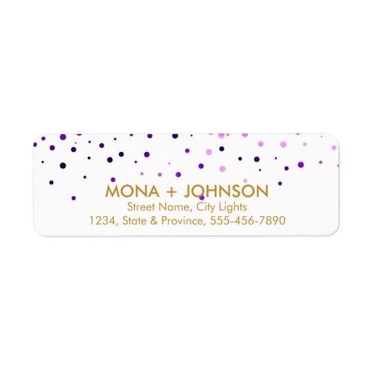 Purple Gold Glitter Sparkle Confetti Dots Modern