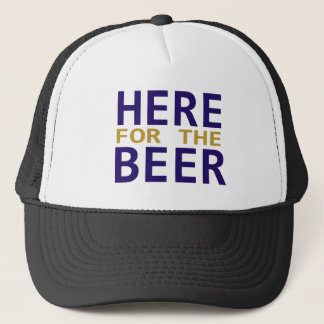Purple gold here for the beer game day hat
