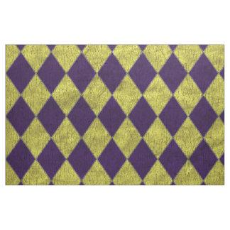 Purple & Gold Jester Harlequin Fabric