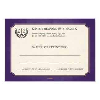 Purple + Gold Law Firm/Law School Graduation RSVP Card