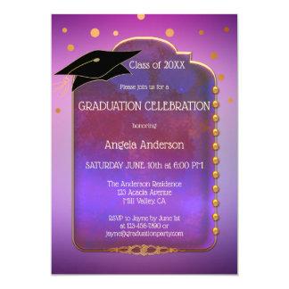 Purple Gold Magical Graduation Invitation
