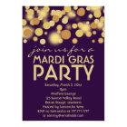 Purple Gold Mardi Gras Party Invitations