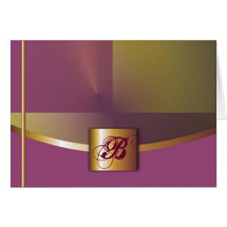 Purple/Gold Monogram Card