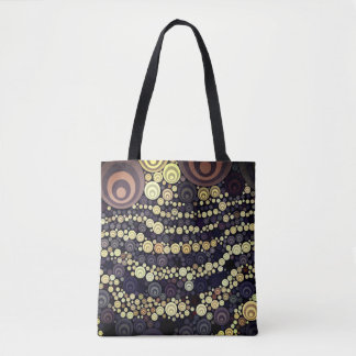 Purple Gold Pattern Tote Bag