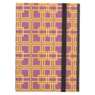 Purple Gold Royal Princess Pattern Design Cover For iPad Air