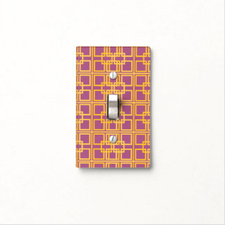 Purple Gold Royal Princess Pattern Design Light Switch Cover