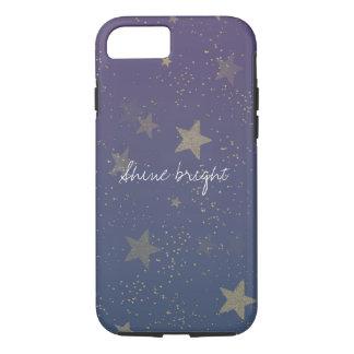 Purple Gold Stars Confetti iPhone 8/7 Case