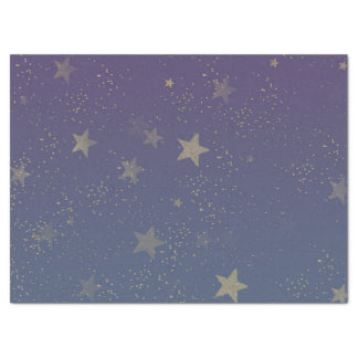 Purple Gold Stars Confetti Tissue Paper