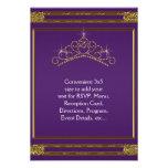 Purple Gold Tiara RSVP All Purpose Custom Invitations