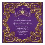 Purple Gold Tiara Sweet 15 Quinceanera