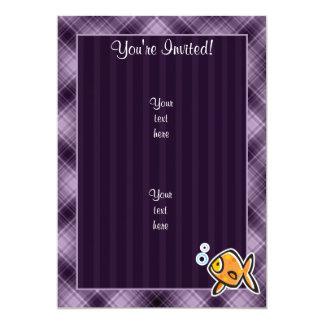 Purple Goldfish Card