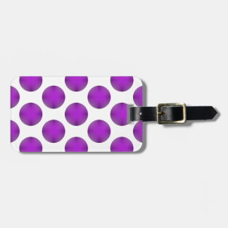 Purple Golf Ball Polka Dot Pattern Luggage Tag