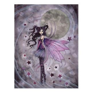Purple Gothic Fairy Faery Fantasy Art Postcard