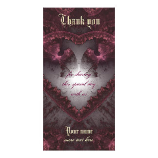Purple Gothic Heart 001 Photo Cards