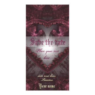 Purple Gothic Heart 001 Picture Card