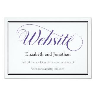 Purple Graceful Script Wedding Website Card