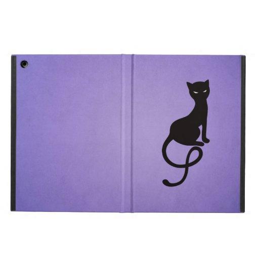 Purple Gracious Evil Black Cat Folio iPad Air Case