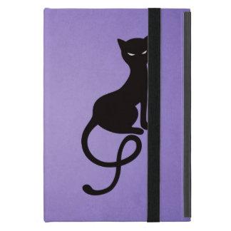 Purple Gracious Evil Black Cat Folio iPad Mini Case