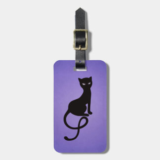 Purple Gracious Evil Black Cat Personalized Travel Bag Tag