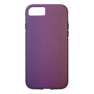 Purple Gradient Carbon Polymer Fiber iPhone 7 Case