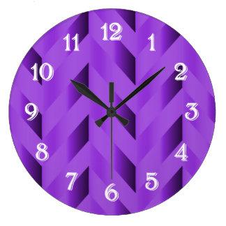 Purple Gradient Chevron Clock