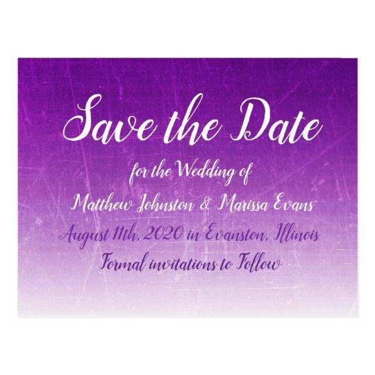 Purple GradientPersonalized Save the Date Postcard