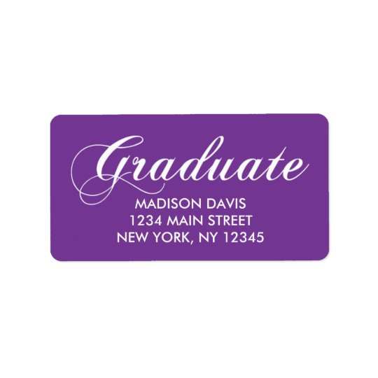 Purple Graduation Address Labels