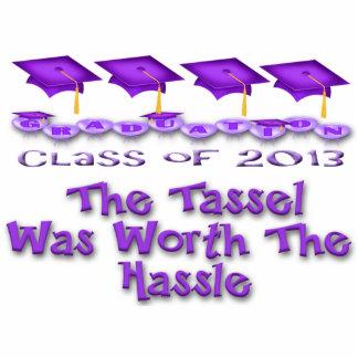 Purple Graduation Caps Photo Sculpture
