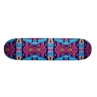 Purple graffiti skateboard. skate board
