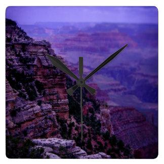 Purple Grand Canyon Clock