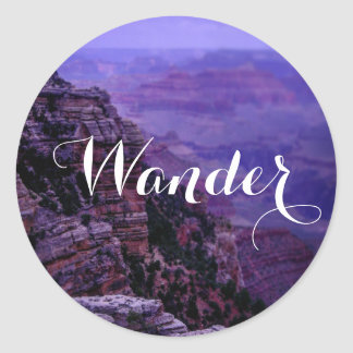 Purple Grand Canyon Sticker